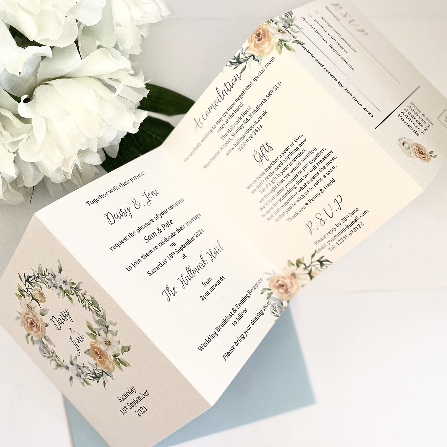 Pretty summer floral concertina invitation with information and rsvp (3) (1)