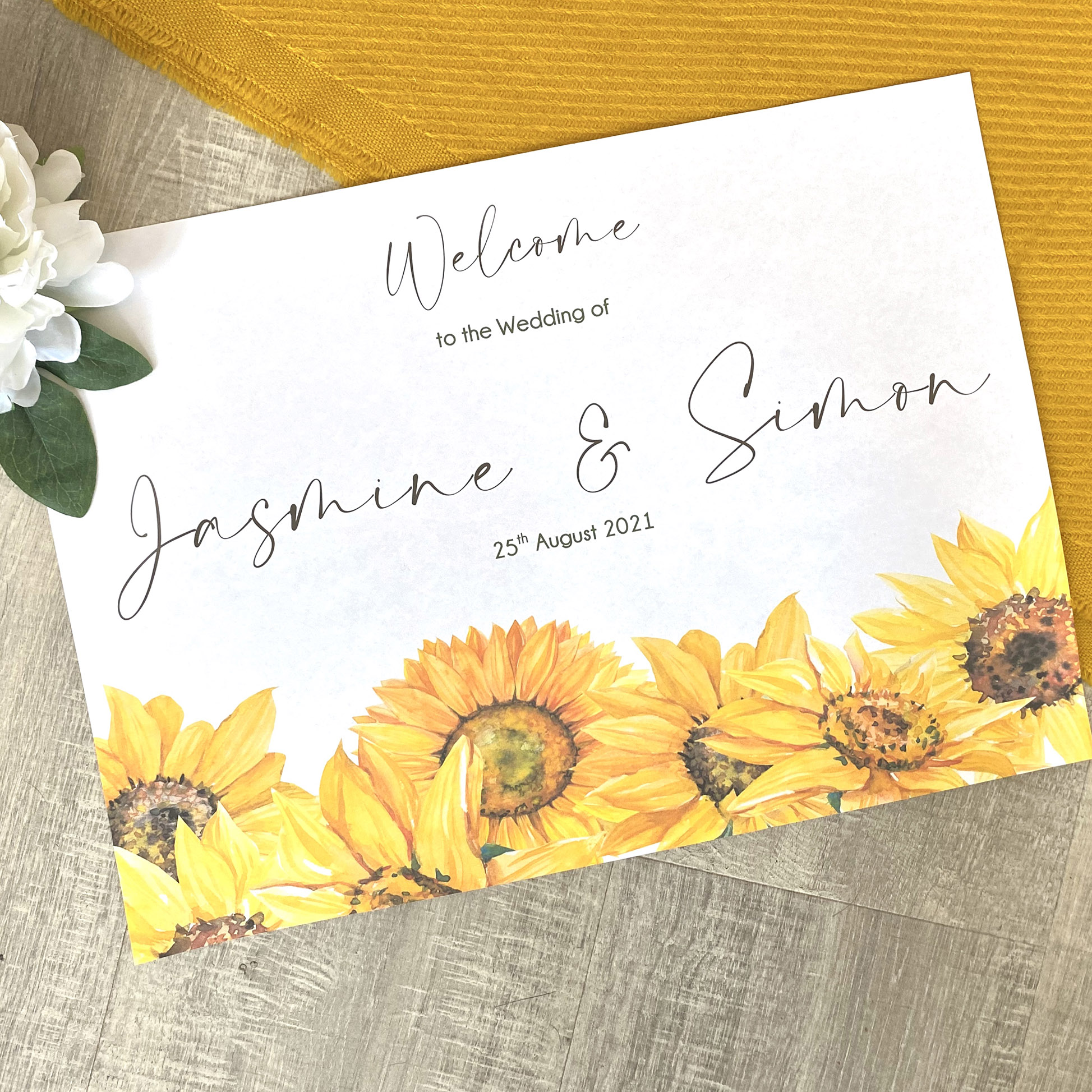 Sunflower welcome sign (1)
